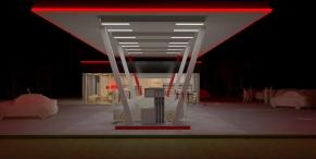 V2 exterior - de noapte - render 2