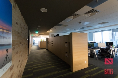 lockers in open space