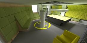 tudor game room - render 3